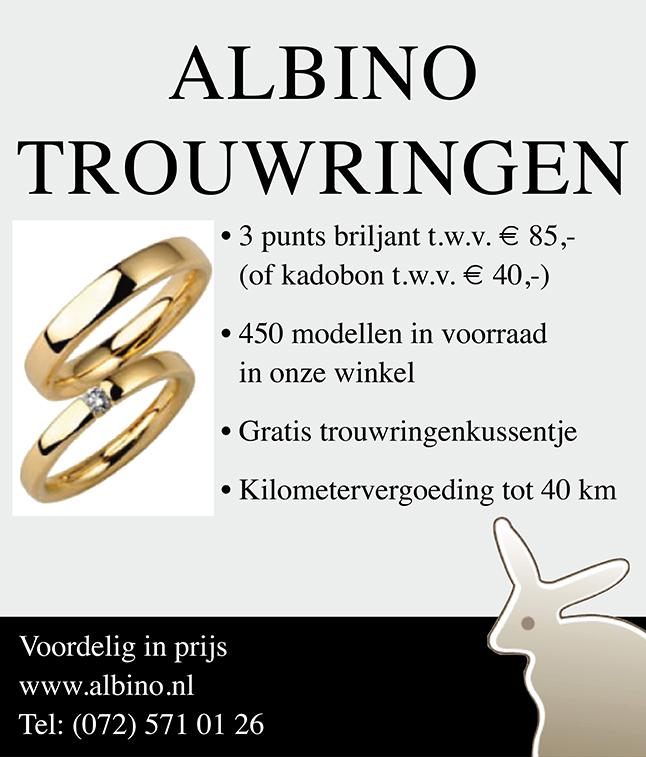 Albino Trouwringen Banner