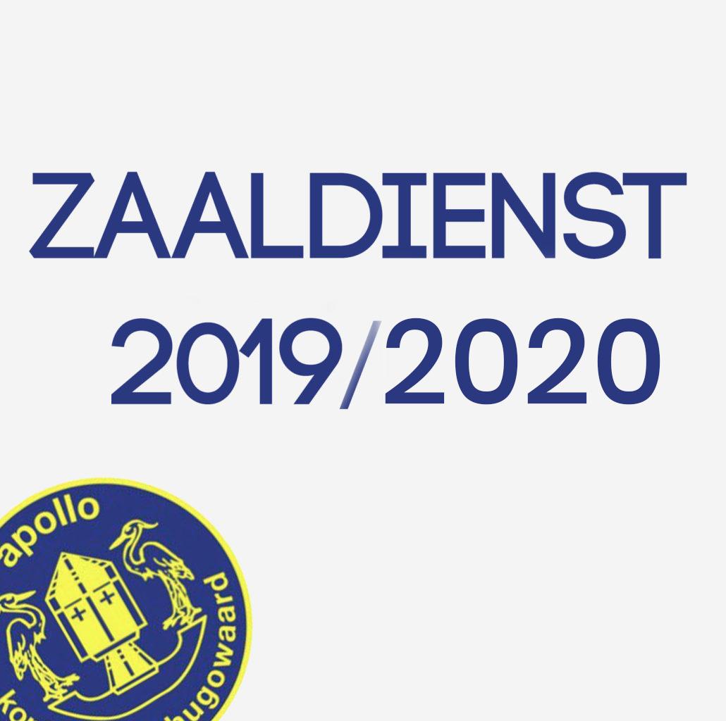 Zaaldiensten 2019/2020